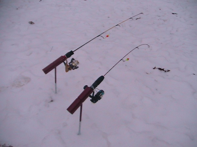 Ez fishing products for Ice fishing rod holders
